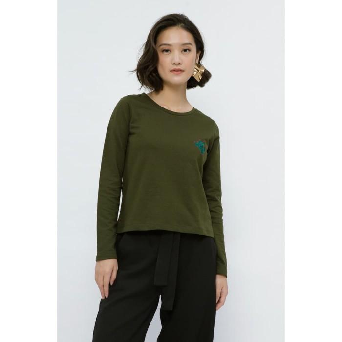 Foto Produk Minimal Patty Shoulder Sweathirt Army Green - M dari minimal