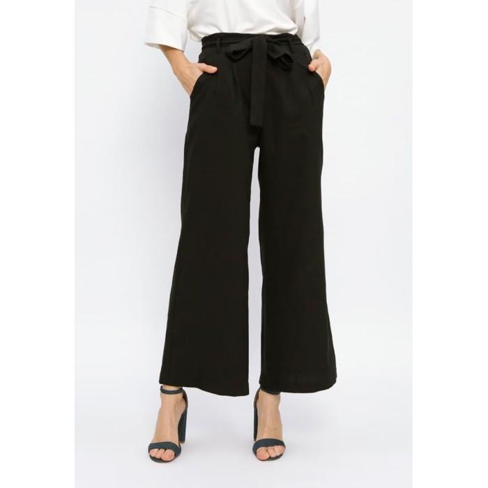 Foto Produk Minimal Wide Leg Trouser Black - M dari minimal