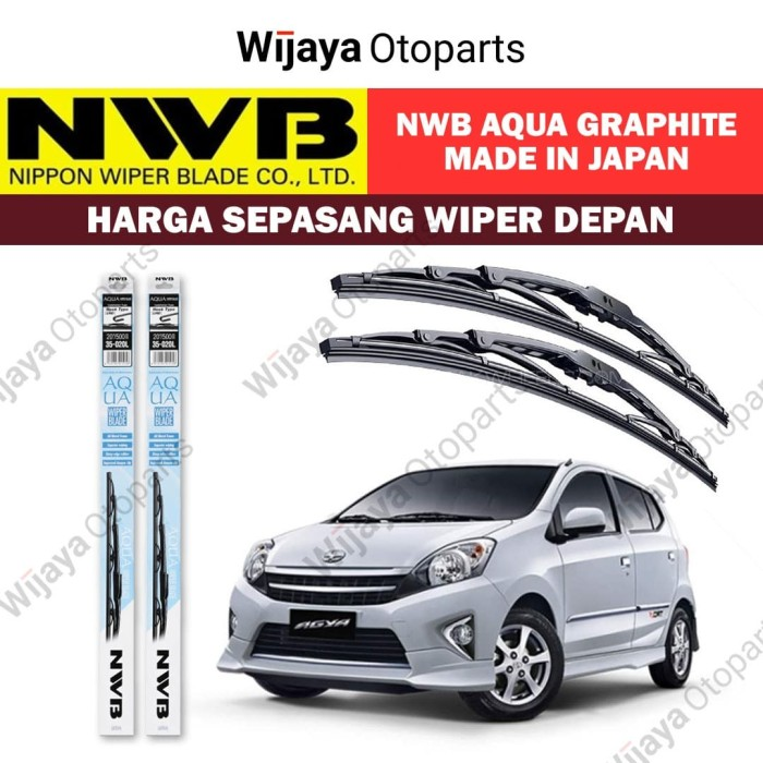 Jual Wiper depan Agya Ayla uk. 21&14 NWB Japan Aqua Graphite Jakarta Barat Wijaya Otoparts | Tokopedia