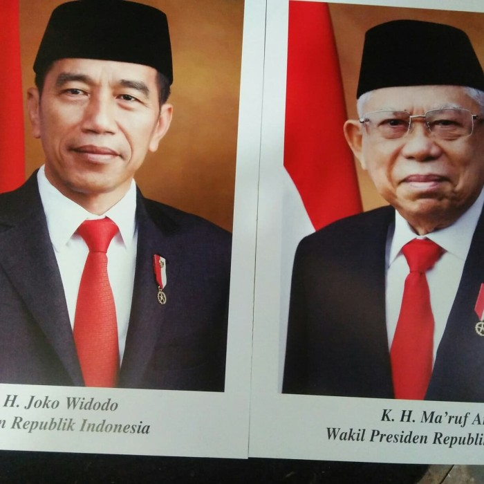 Jual Foto Presiden Dan Wakil Presiden 2019 2024 Jakarta Barat Berkah Charyta Tokopedia