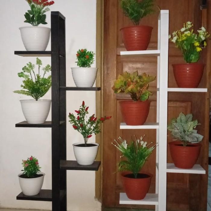 Jual Rak Tanaman 5 Pot Tanaman Hias Artificial Kota Tangerang Selatan Zukhrufi Florist Tokopedia