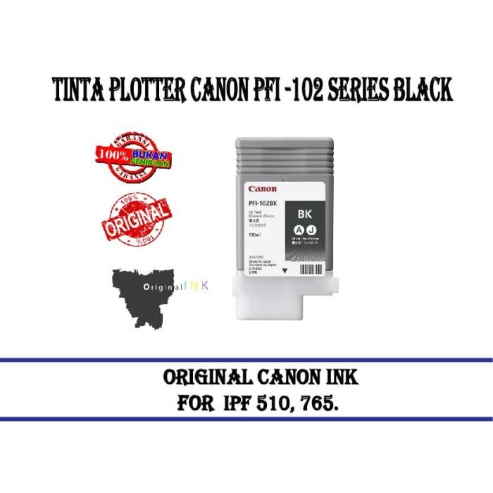 harga Tinta plotter canon pfi -102 series black Tokopedia.com