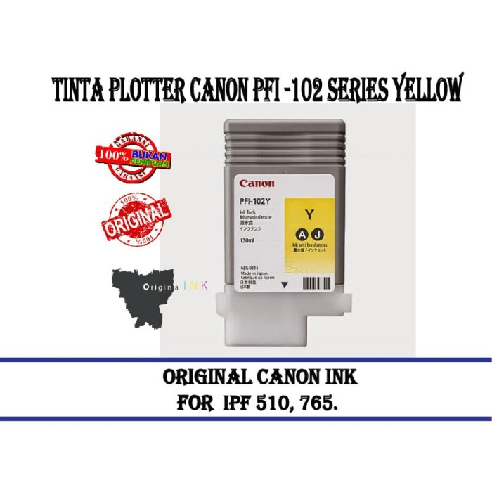 harga Tinta plotter canon pfi -102 series yellow Tokopedia.com