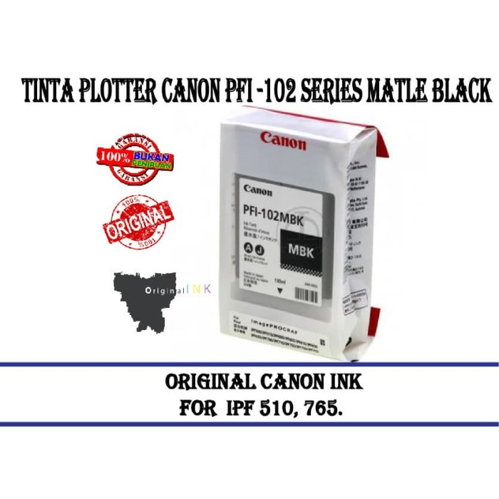 harga Tinta plotter canon pfi -102 series matle black Tokopedia.com