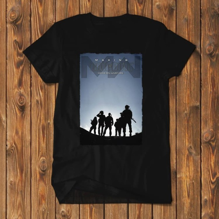 Foto Produk Call Of Duty Modern Warfare PS4 PC Baju Kaos Pria COD-MWR-02 dari Supplier Kaos Custom