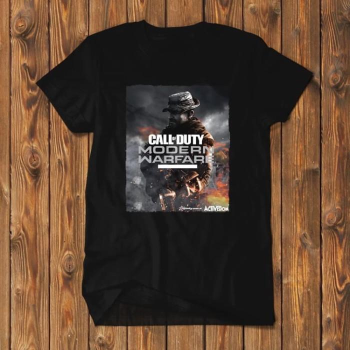 Foto Produk Call Of Duty Modern Warfare PS4 PC Baju Kaos Pria COD-MWR-04 dari Supplier Kaos Custom