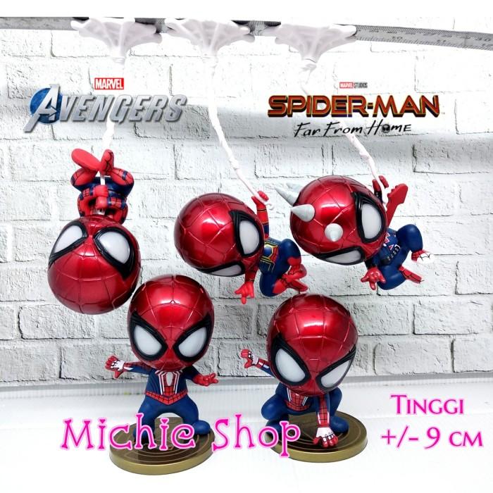 Foto Produk Figure Spider Man With Magnet (Set 5) Bobblehead Avengers Spiderman dari MichieShop