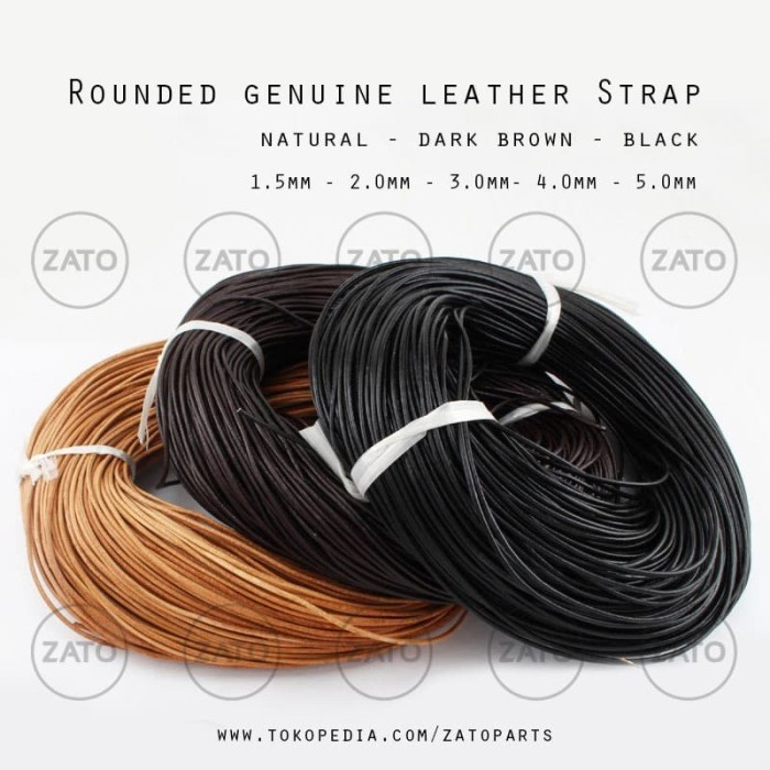 Foto Produk Rounded genuine leather Strap Lace - Leather tools - tali kulit dari ZATO INDONESIA