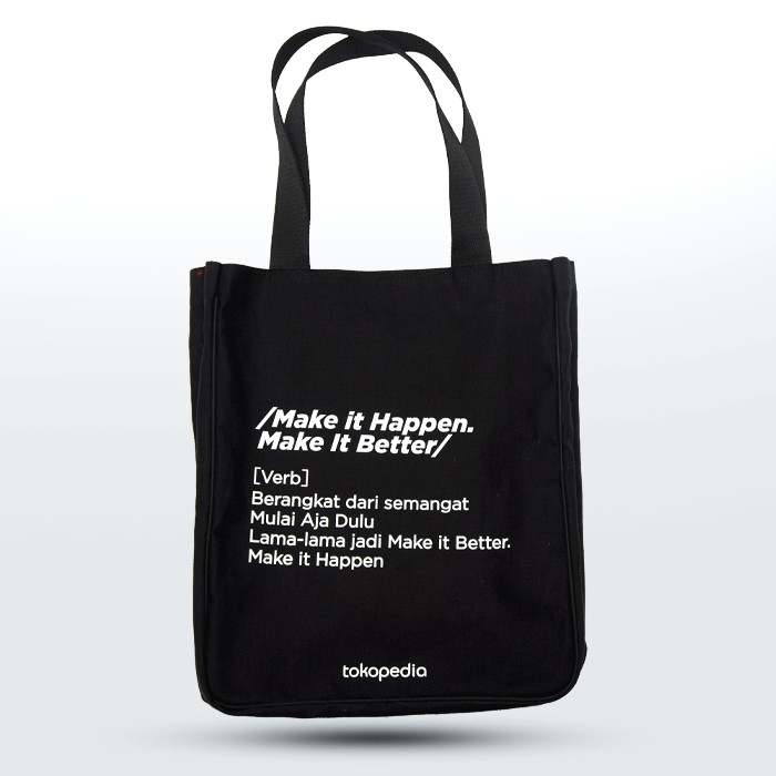 Make It Happen >> Jual Make It Happen Make It Better Totebag Jakarta Timur Tokopedia Merchandise Tokopedia