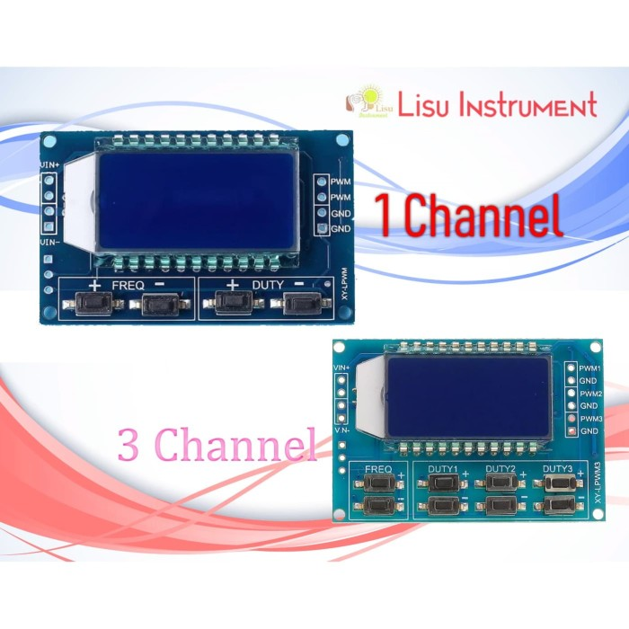 Foto Produk Signal Generator PWM Pulse Frequency Duty Cycle Adjustable Module LCD - Tiga Channel dari LisuInstrument
