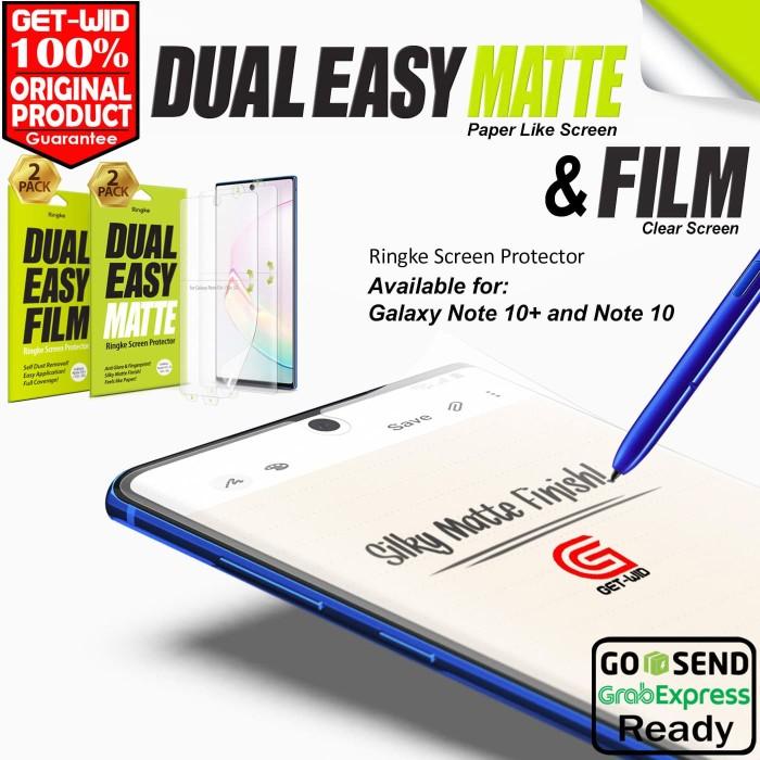 Foto Produk Screen Protector Galaxy Note 10 Plus / Note 10 Ringke Dual Easy Film - Clear, Note 10 dari GET WID