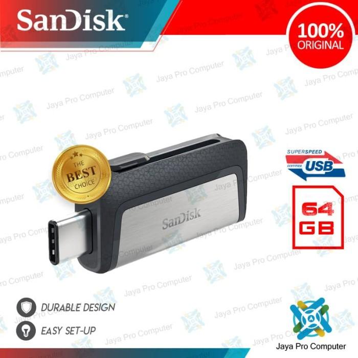 Foto Produk Sandisk Ultra OTG Dual Type-C 64GB - Flash Disk/ Flashdisk 64 GB 3.1 dari Jaya Pro Computer