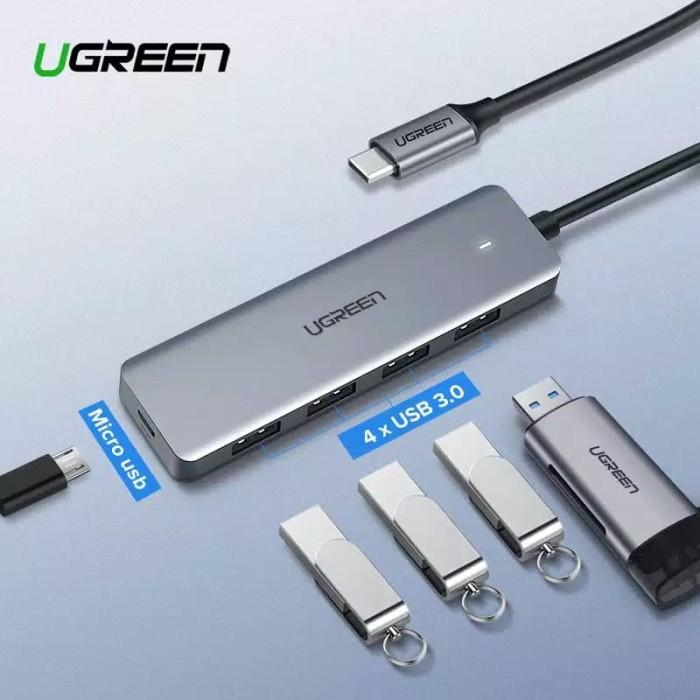 Foto Produk UGREEN USB Type C 3.1 Hub 4 Port USB 3.0 dari U.SHOP