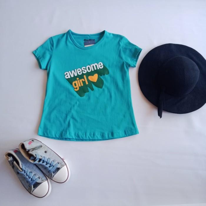 Foto Produk Baju Kaos Anak Cewek Oshkosh - 8-9 tahun, Biru Muda dari Danisha Collections Dps
