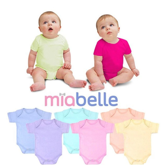 Foto Produk jumper polos bodysuit miabelle anak bayi unisex dari The Fairy Babyshop
