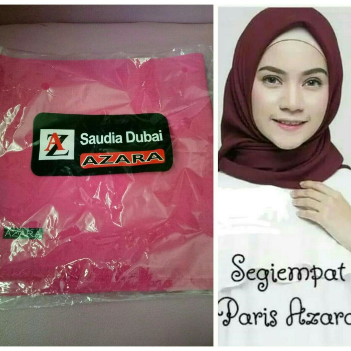 Foto Produk jilbab segi empat paris jilbab azara paris hijab segi empat polos - Fanta dari COUPLE MOESLIM