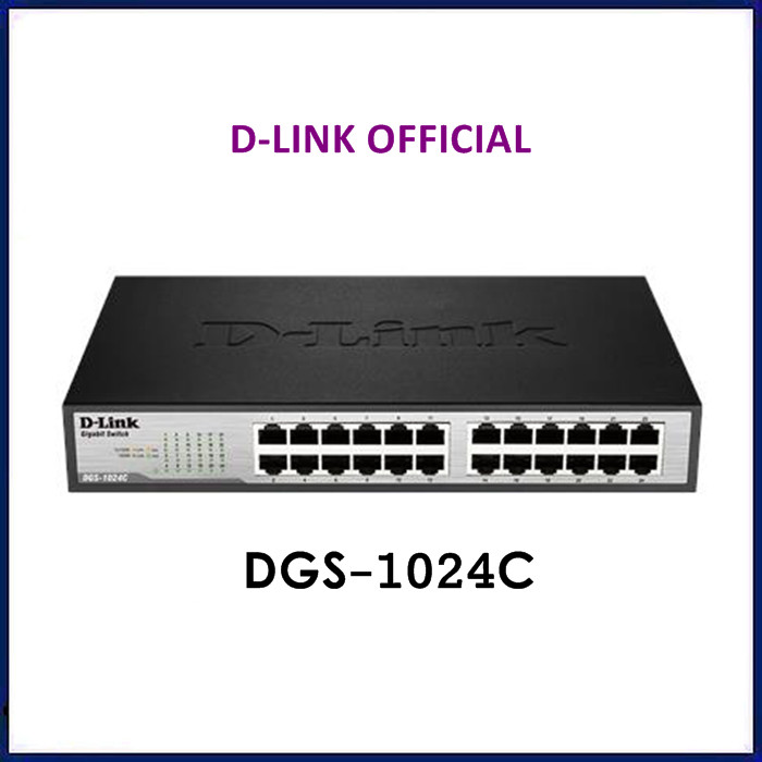 Foto Produk Switch Hub D-Link 24 Port Gigabit Unmanaged Dlink DGS-1024C Switch dari ORIGINAL IT SHOP