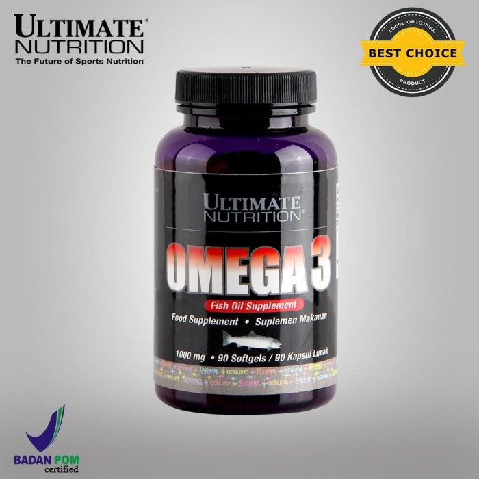 Foto Produk Omega-3, 1000 mg, 90 Softgels - Ultimate Nutrition Official dari Ultimate Nutrition