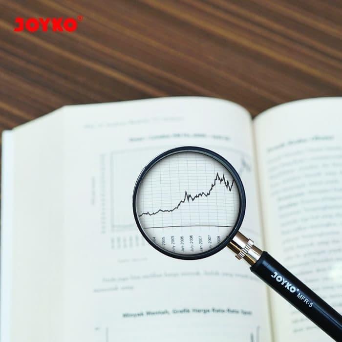 Foto Produk Joyko Magnifying Glass / Loupe / Kaca Pembesar 75 mm zoom lens MFR 5 dari Sentral Stationery