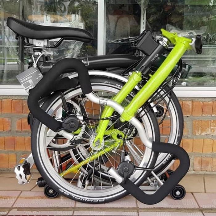Jual Sepeda Lipat BROMPTON P6L 2019 BLACKLIME GREEN