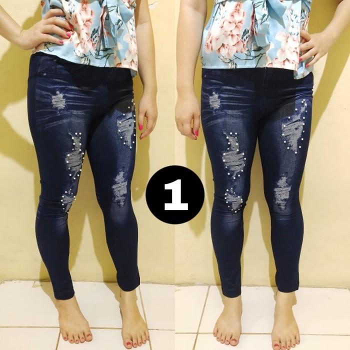Jual Legging Motif Jeans Sobek Variasi Mutiara Pearl Motif Tiga Jakarta Barat Legging Import Ku Tokopedia
