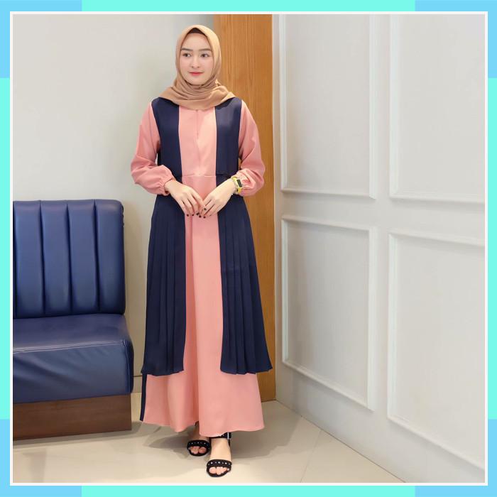 Jual Gamis Maxi Humairo Bahan Moscrepe Premium Best Seler Termurah Terlaris Jakarta Utara Nuha Z Tokopedia