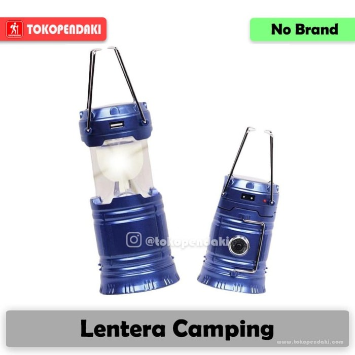 harga Lentera tenda solarcell + powerbank + charger Tokopedia.com