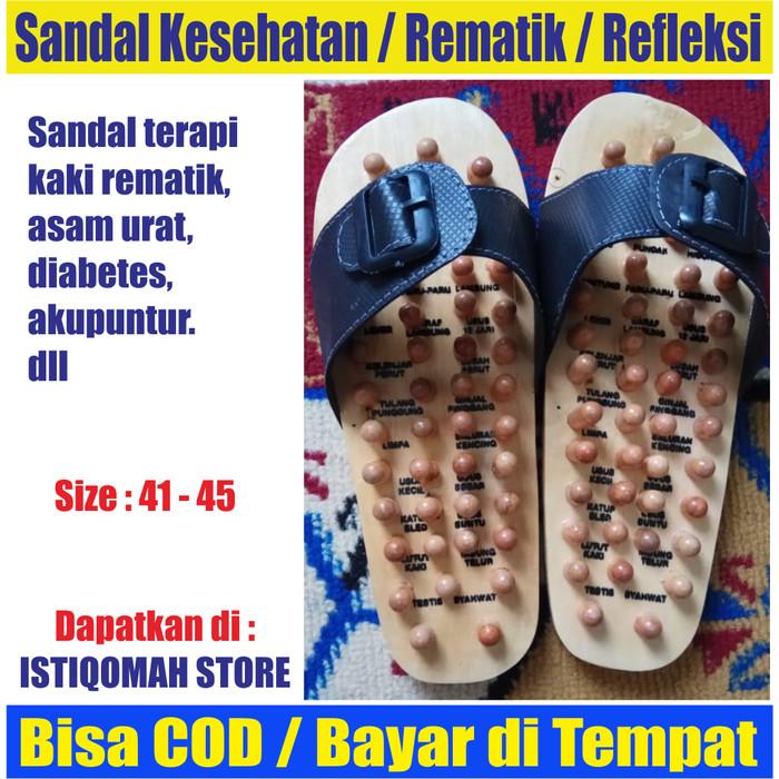 Foto Produk Sandal Rematik Sandal Refleksi Sandal Kesehatan Model Kayu Tradisional dari Istiqomah-Store