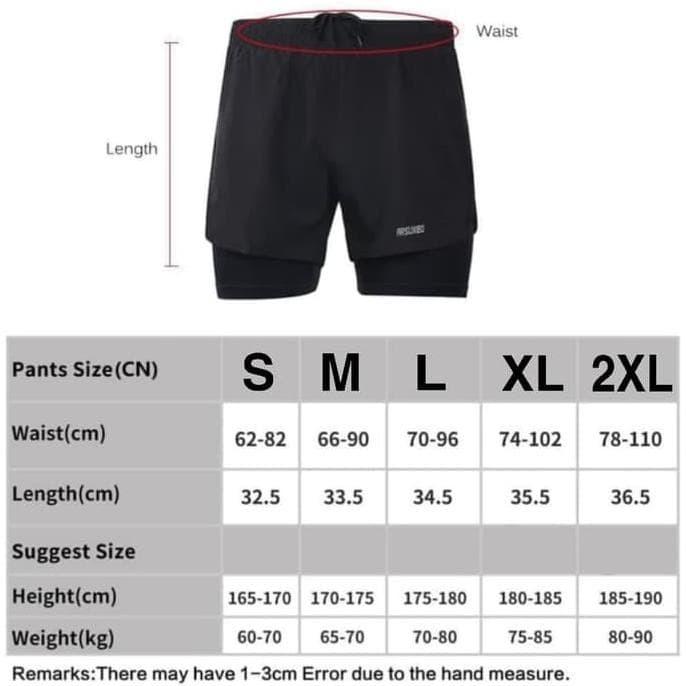 Jual Hot Produk Double Legging Pria Celana Pendek 2 In 1 Man Sport Running Jakarta Selatan Sri Sulistyowati Tokopedia