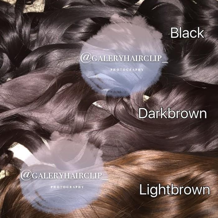 Foto Produk 282 Hairclip 30cm CURLY / Hairclip pendek - Hitam dari Dwi SecondStuff