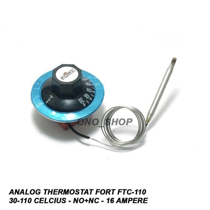 Foto Produk Analog Thermostat FORT FTC110 30110 Celcius 16 Ampere B10 S716 dari TOKO BUKU HEMAT