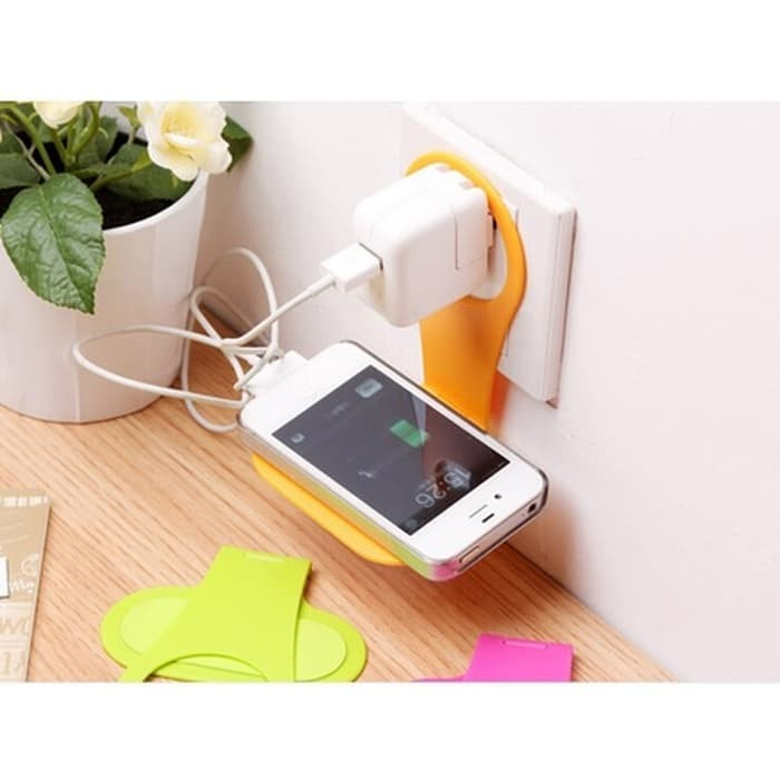 Foto Produk Smartphone Wall Adapter Charger Stand Bracket Holder - Multi-Color dari TokoSetia