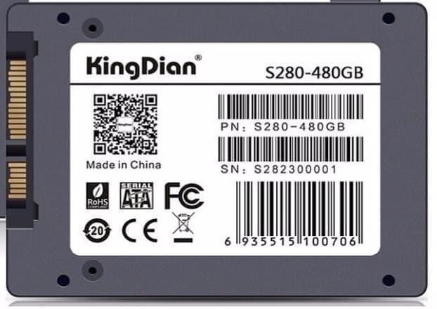 Foto Produk KingDian SSD S280 SATA III 2.5 Inch 480GB dari TokoSetia