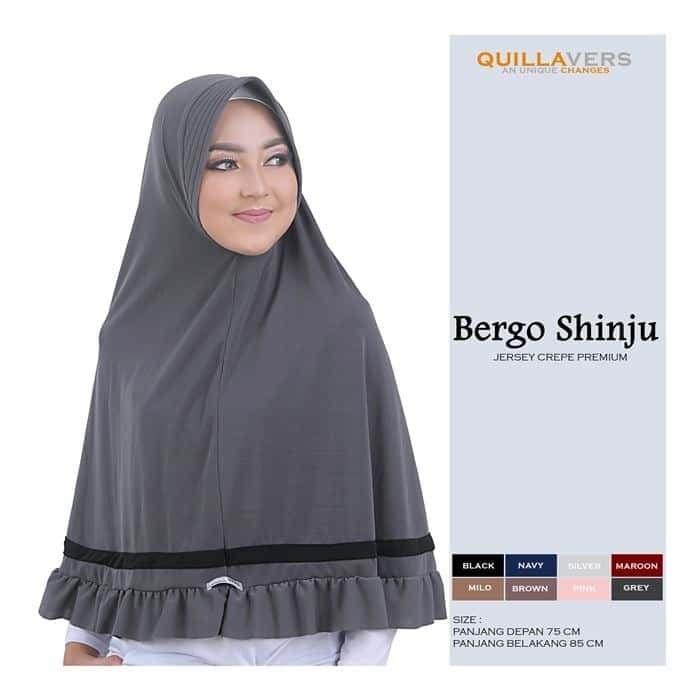 Foto Produk Quillavers Hijab Bergo syar'i Shinju dari Lizaonline