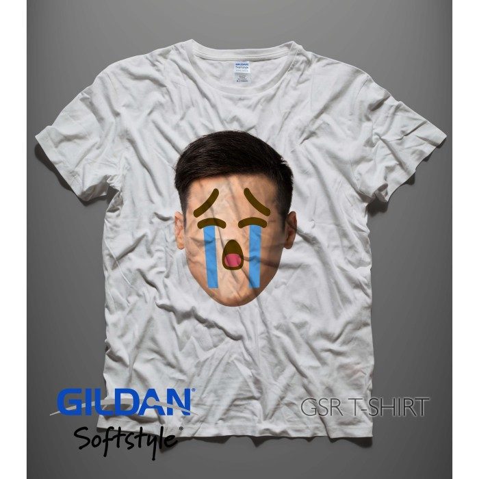 Jual Kaos Gildan Softstyle Original Desain Emoji Face Cry Ambyar