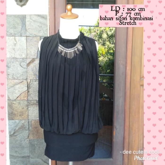 Foto Produk dress plisket hitam dari cute n cool olshop