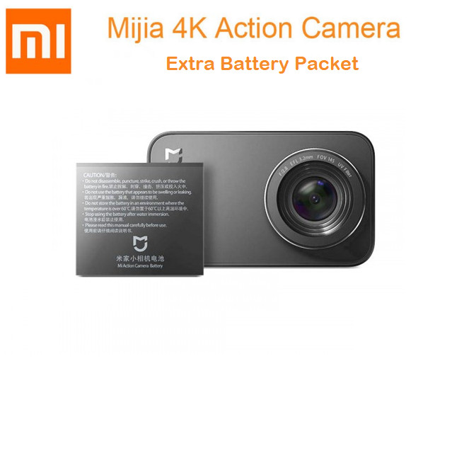 Foto Produk Xiaomi Mijia Action Camera 4k 30fps Extra Battery Packet dari Aan Jaya Mart