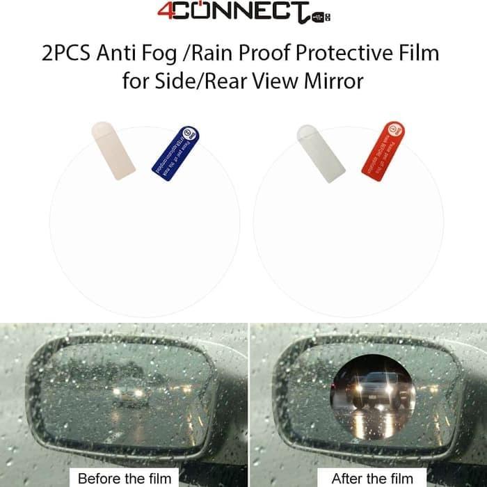 Foto Produk 4Connect Rainproof Anti fog Anti scratch Car Rearview Side Mirror Glas dari Aan Jaya Mart