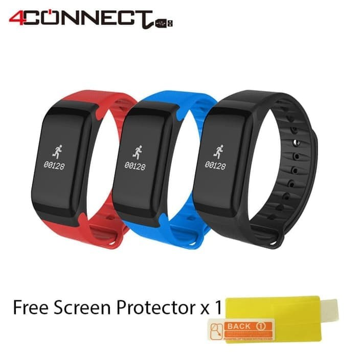 Foto Produk 4Fit Blood Pressure Activity Tracker Free Screen Protector x 1 dari Aan Jaya Mart
