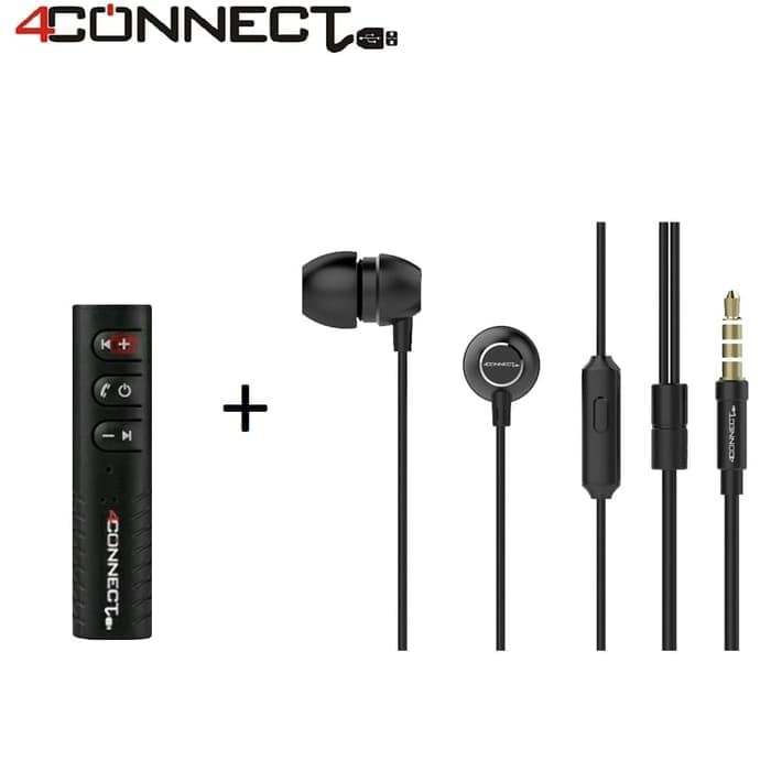Foto Produk 4Connect Bluetooth Audio Receiver+ 4C7 Earphone Packet dari Aan Jaya Mart