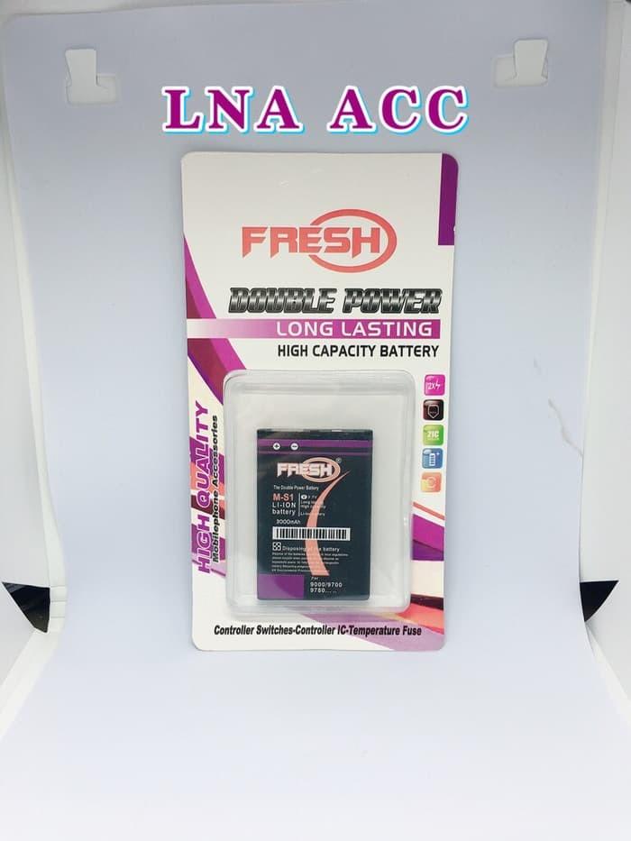 Foto Produk BATTERY DOUBLE POWER FRESH BLACKBERRY M-S1 BB9700 BB9000 BB9780 dari Kholid Store Jaya