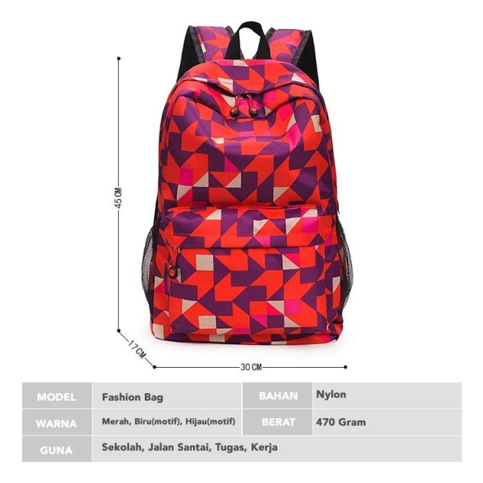Foto Produk Smart Fish Tas Ransel Korean Fashion unisex backpack jalan dari sappewali