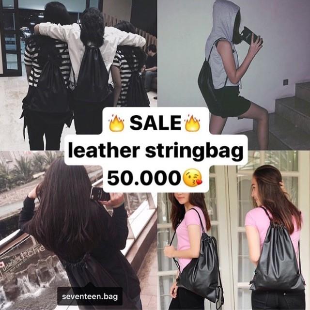 Foto Produk leather stringbag by seventeen.bag dari sappewali