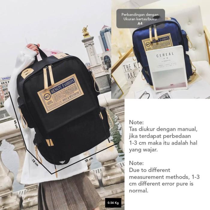 Foto Produk Smart Fish Tas Ransel Fashion Unisex Backpack Laptop Korean Fashion Ta dari sappewali