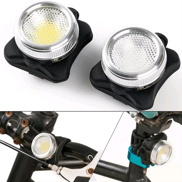 Foto Produk Lampu sepeda Hybrid LED COB head light tail light dari jelitapagi