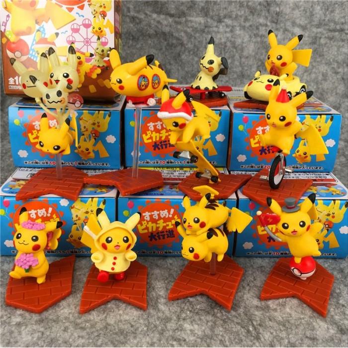 Foto Produk Pokemon Q versi 10 pcs Pokemon Pikachu Pokemon Doll kotak telur tangan dari septo star