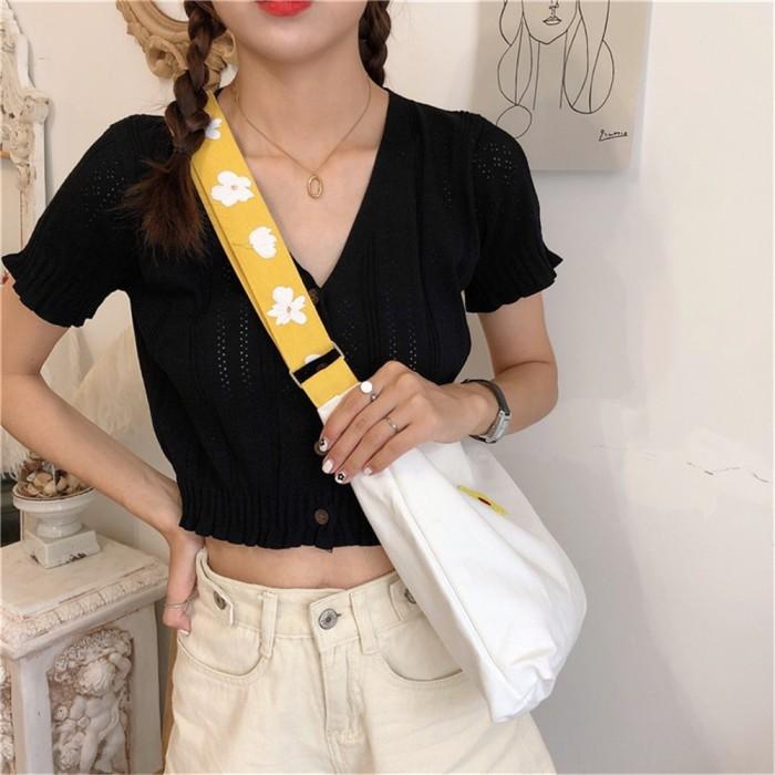 Foto Produk Wanita tas bahu kanvas tote tas belanja crossbody dari septo star