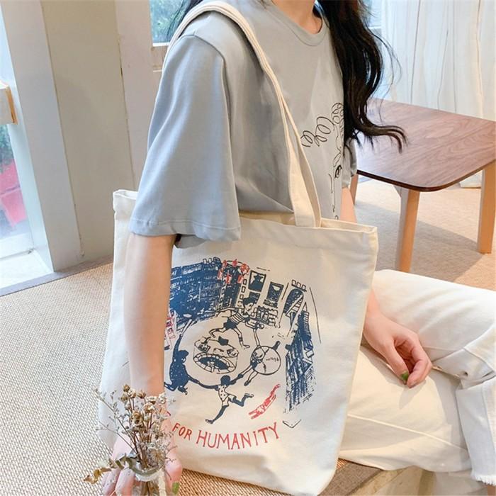 Foto Produk Tas jinjing kanvas tas belanja wanita dari septo star