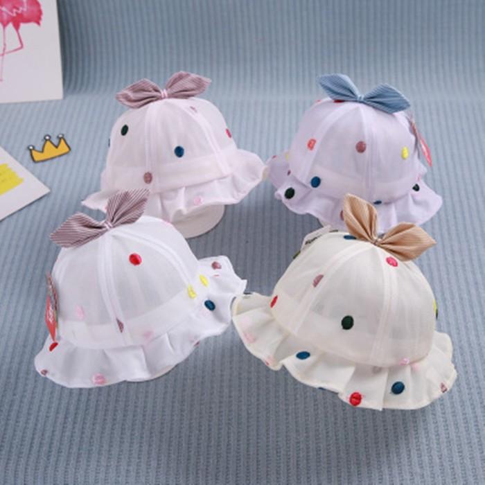 Foto Produk Bayi perempuan putri topi matahari anak-anak topi ember dari septo star