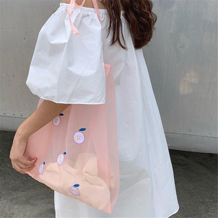 Foto Produk Tas wanita bersulam transparan tote bag cross body dari septo star
